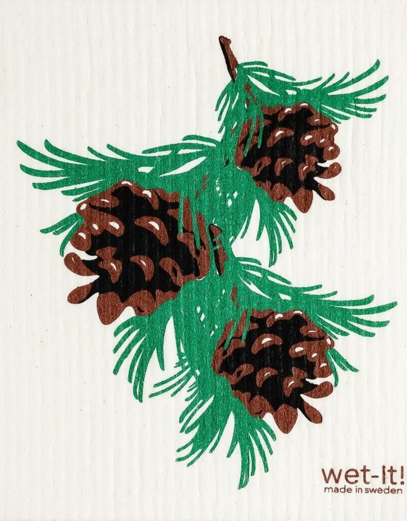 Pinecones Swedish Cloth