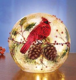"6"" Cardinal Lighted Sphere"