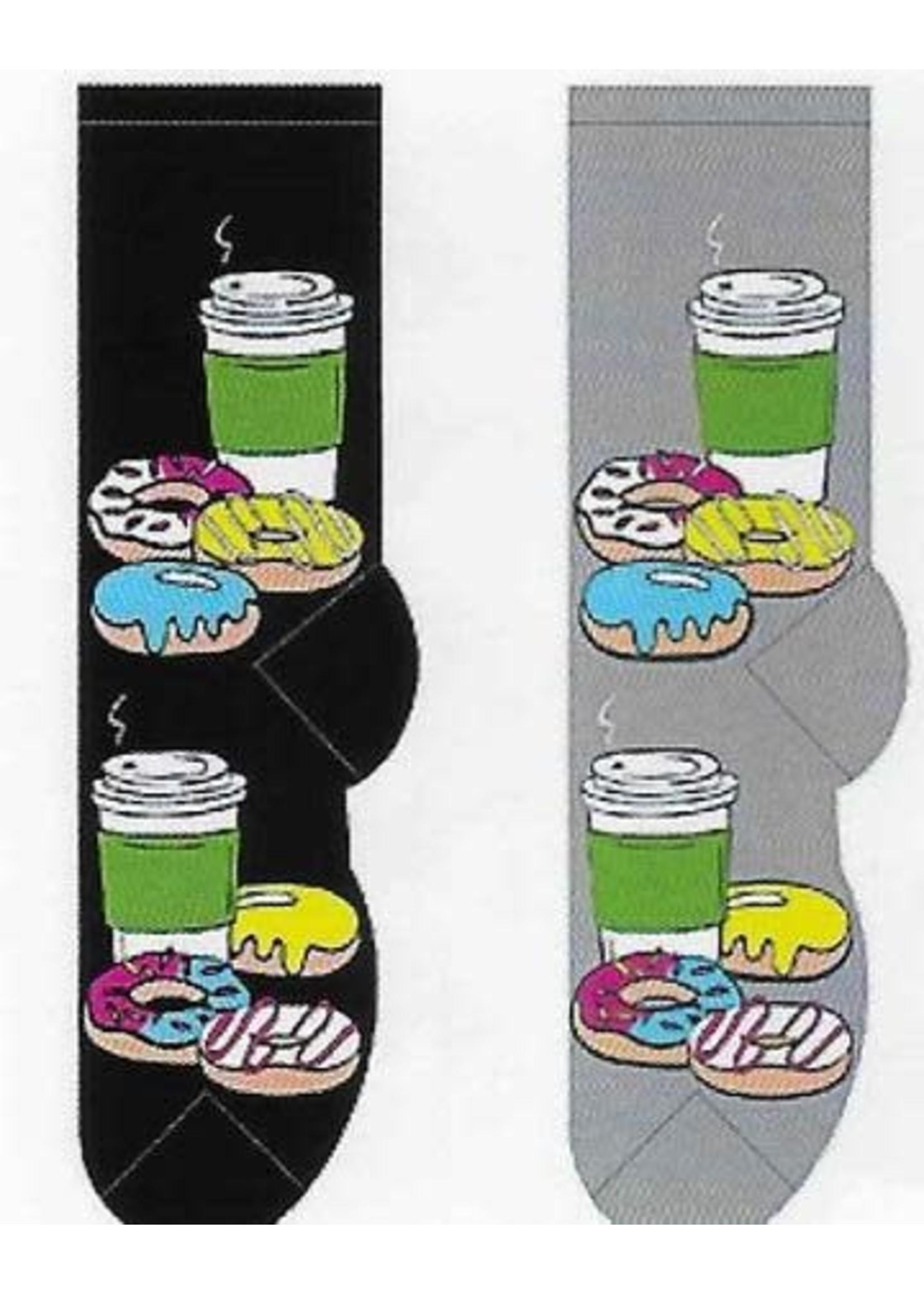 Foozys Donuts & Coffee To Go Socks