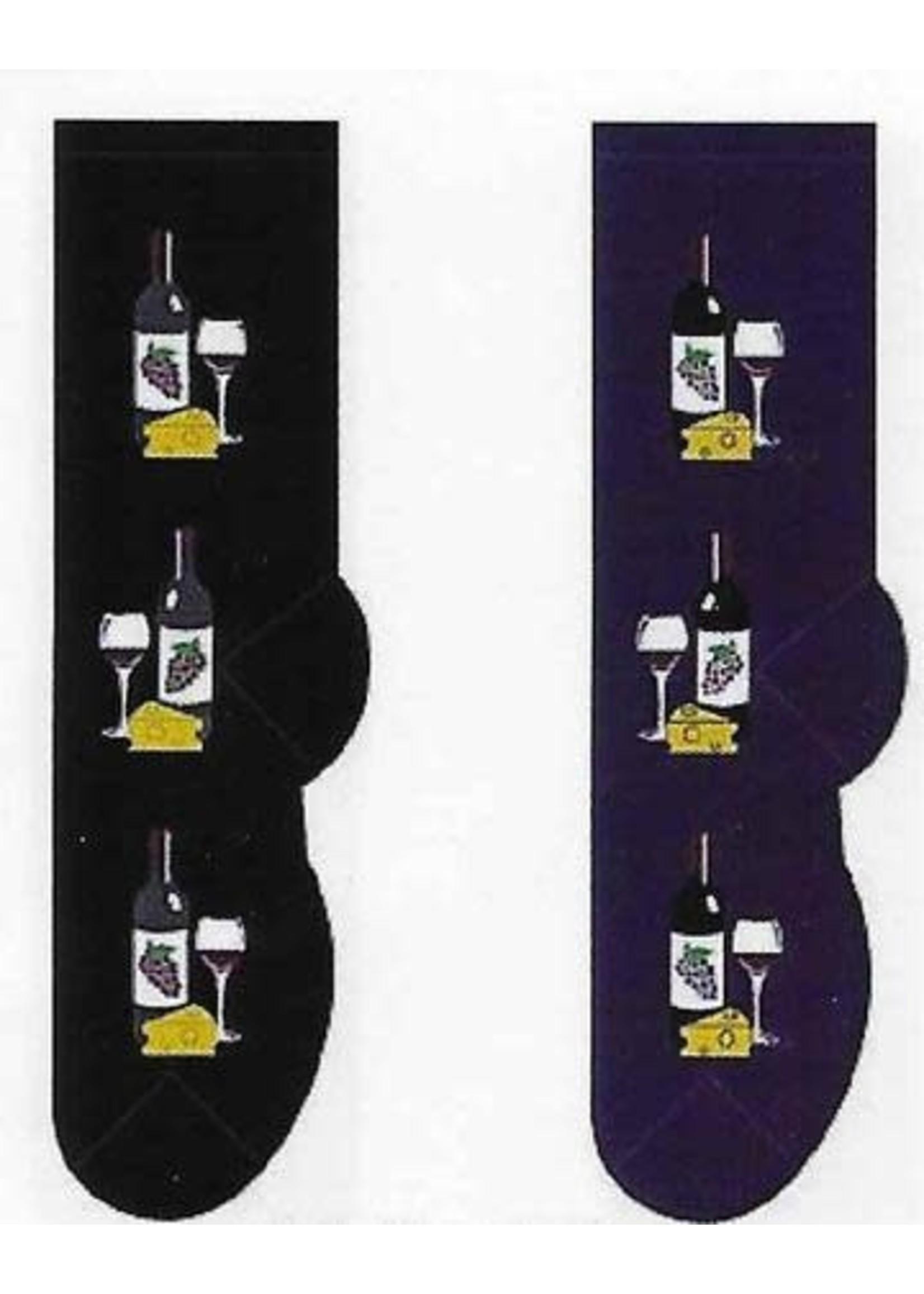Foozys Wine & Cheese Socks