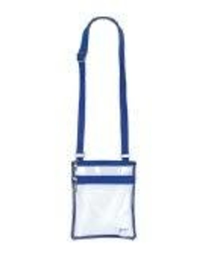 Event Clear Bag with Blue Trim