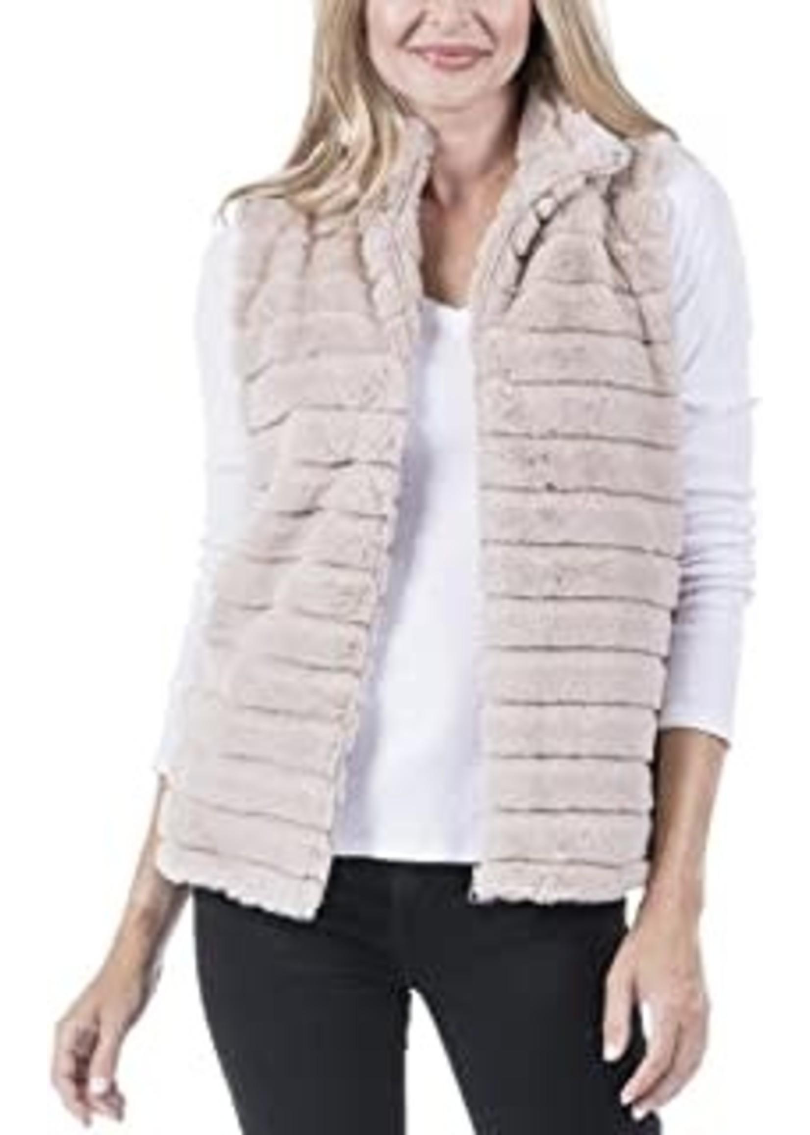 Katydid Faux Rabbit Fur Vest