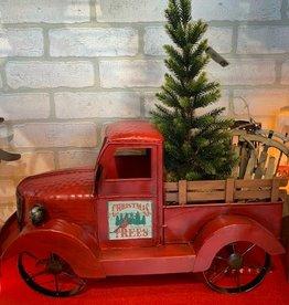 Metal Antique Red Truck