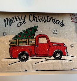 Red Truck Holiday Throw Pillow