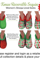 Ugly Christmas Reversible Bling Slippers