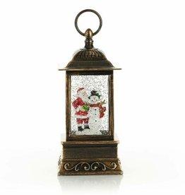 Holiday Glitter Lantern Santa/Snowman