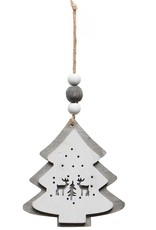 Gray & White Ornament