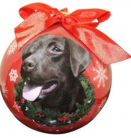 Chocolate Labrador Ornament