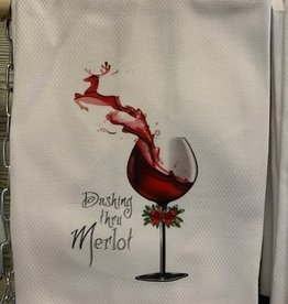 Dashing Thru Merlot Towel