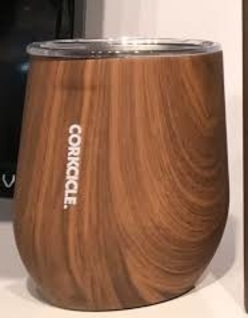 12 oz Stemless Walnut Wood