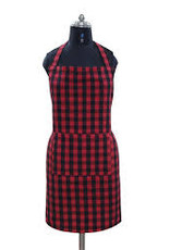 Buffalo Plaid Apron with 2 Pockets