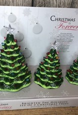 Set of Light Up Chrismas Trees