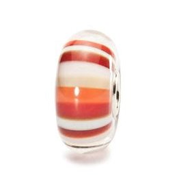 Trollbeads Strawberry Stripes, Glass