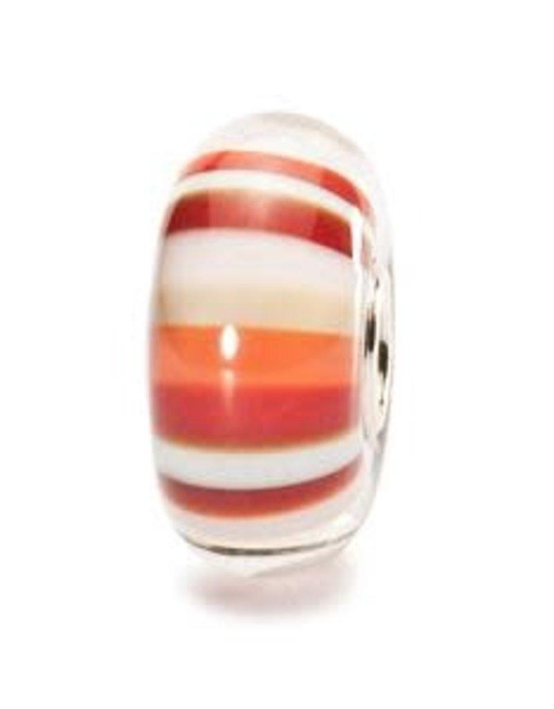 Trollbeads Strawberry Stripes, Glass
