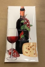 Red Wine Holiday Bagged Towel