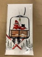 Mary Lake Thompson Ski Lift Bagged Towel