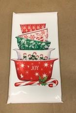 Holiday Vintage Bowls Bagged Towel