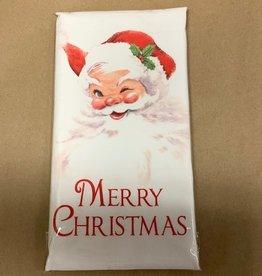 Santa Winking Bagged Towel