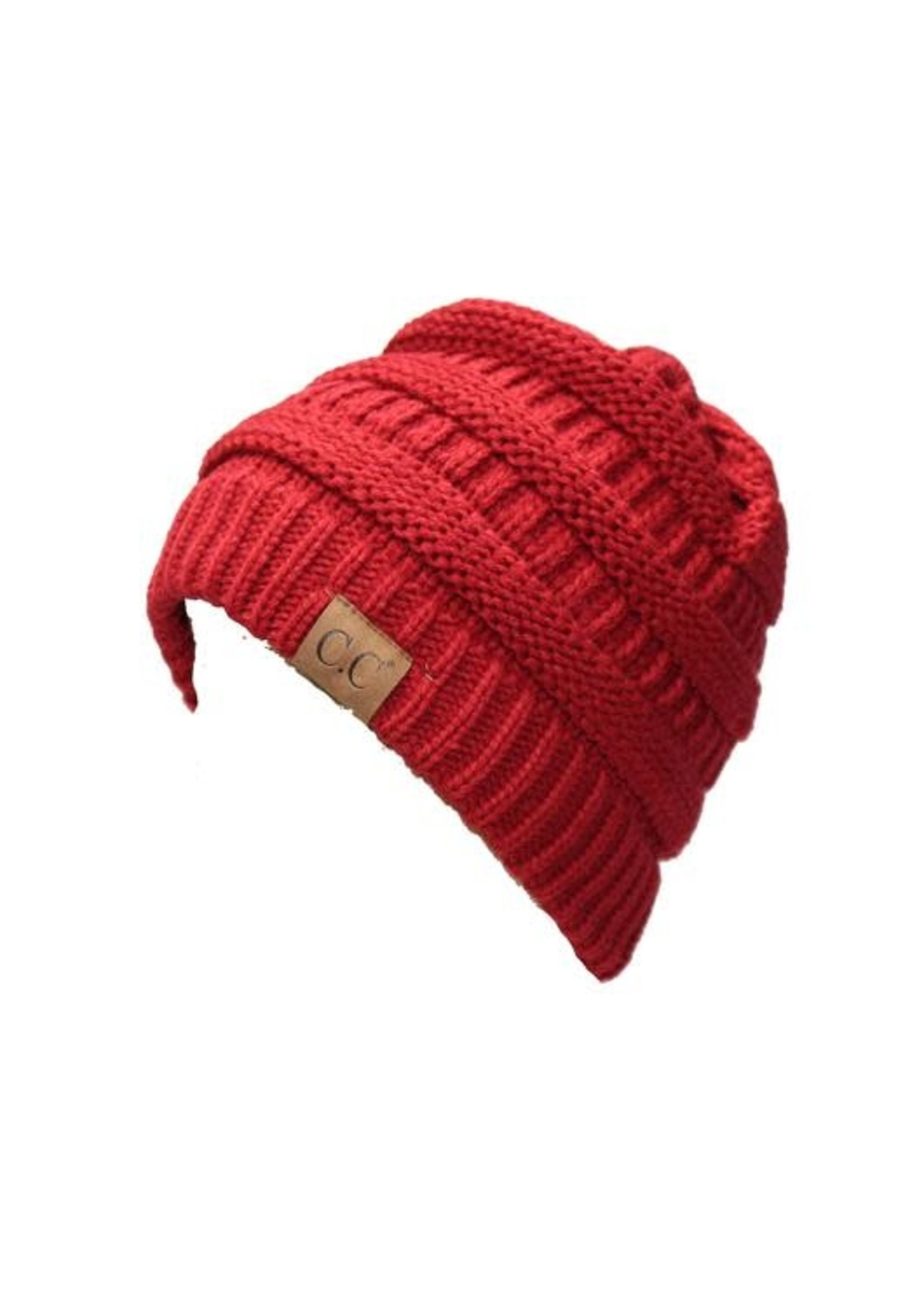 Knitted Beanie with C.C.