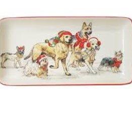 Happy Howlidays Ceramic Rectangle Platter