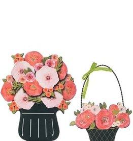 Flower Basket Wall Decor