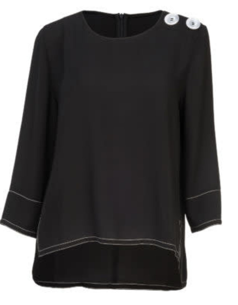 3/4 Sleeve with Button Top