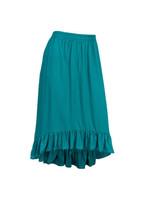 Ruffle Bottom High Low Skirt