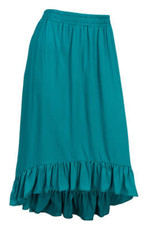 Ruffle Bottom High Low Skirt