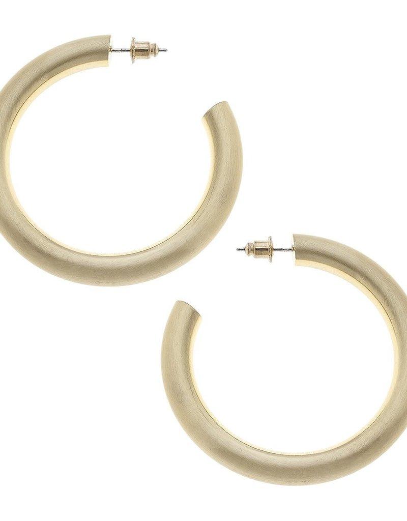Canvas Isla Hoop Earrings in Satin