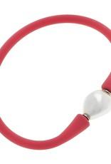 Canvas Baroque Pearl Silicone Bracelet