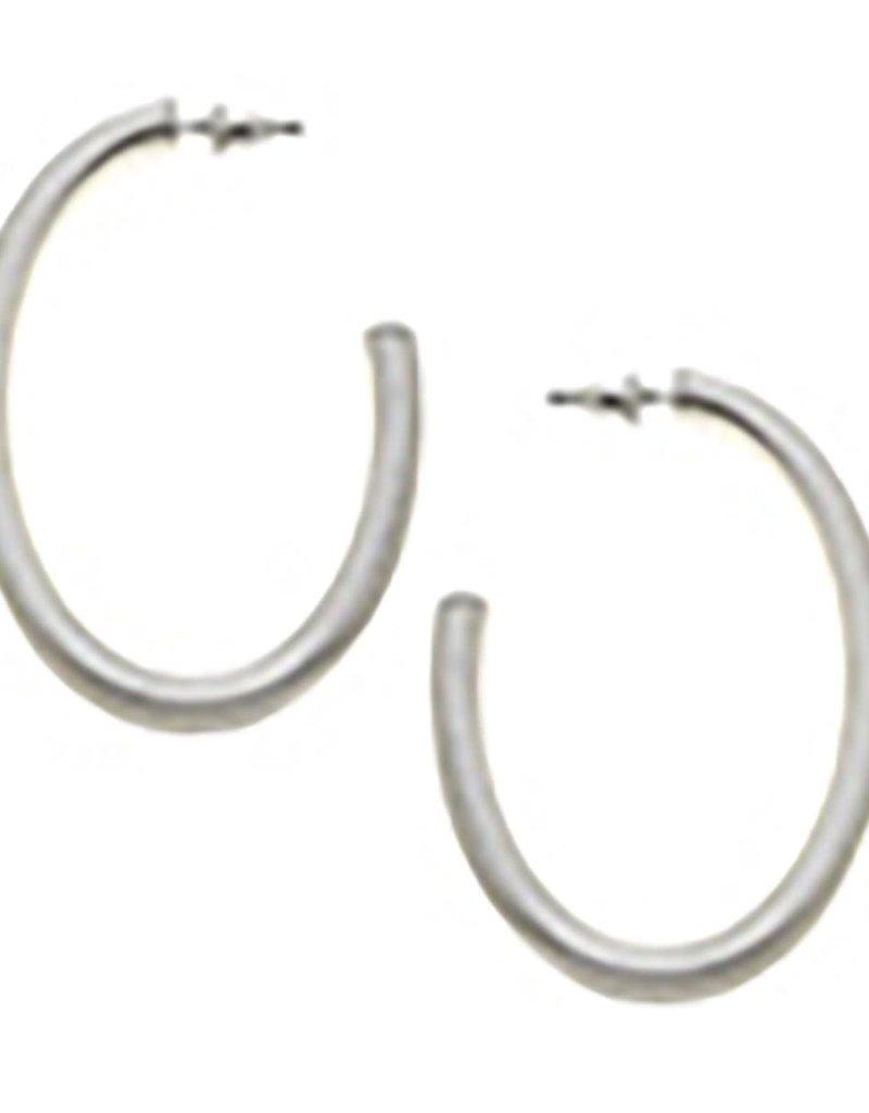 Canvas Tansey Hoop Earrings