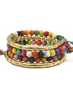 Anju / G A Designs Aasha Coil Wrap Bracelet B5007