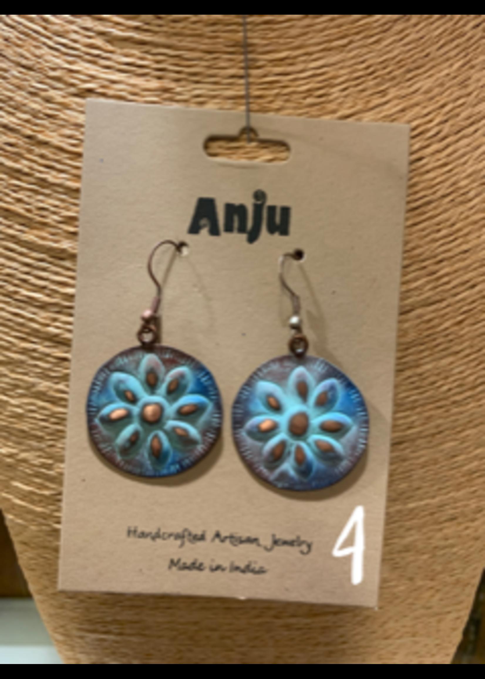 Anju / G A Designs Copper Patina Earrings