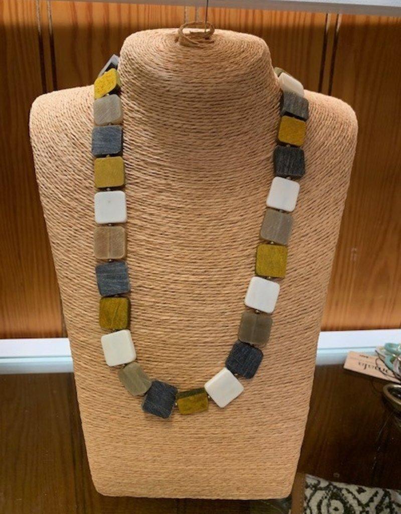 Omala Necklace Long Square Shapes N1706