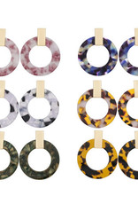 Acrylic Animal Print Open Circle Earrings