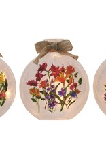 Stony Creek Flowers Round Vase with Ribbon