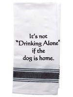 Wild Hare Designs Drinking Alone Dog Home Towel
