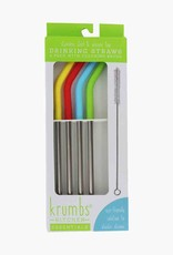 4 Piece Stainless Steel Straw with Brush Cleaner