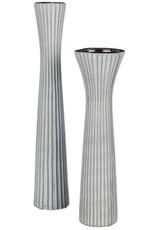 "Tall Gray Vase 16.5"""
