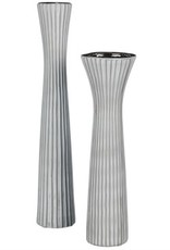"Tall Gray Vase 13"""