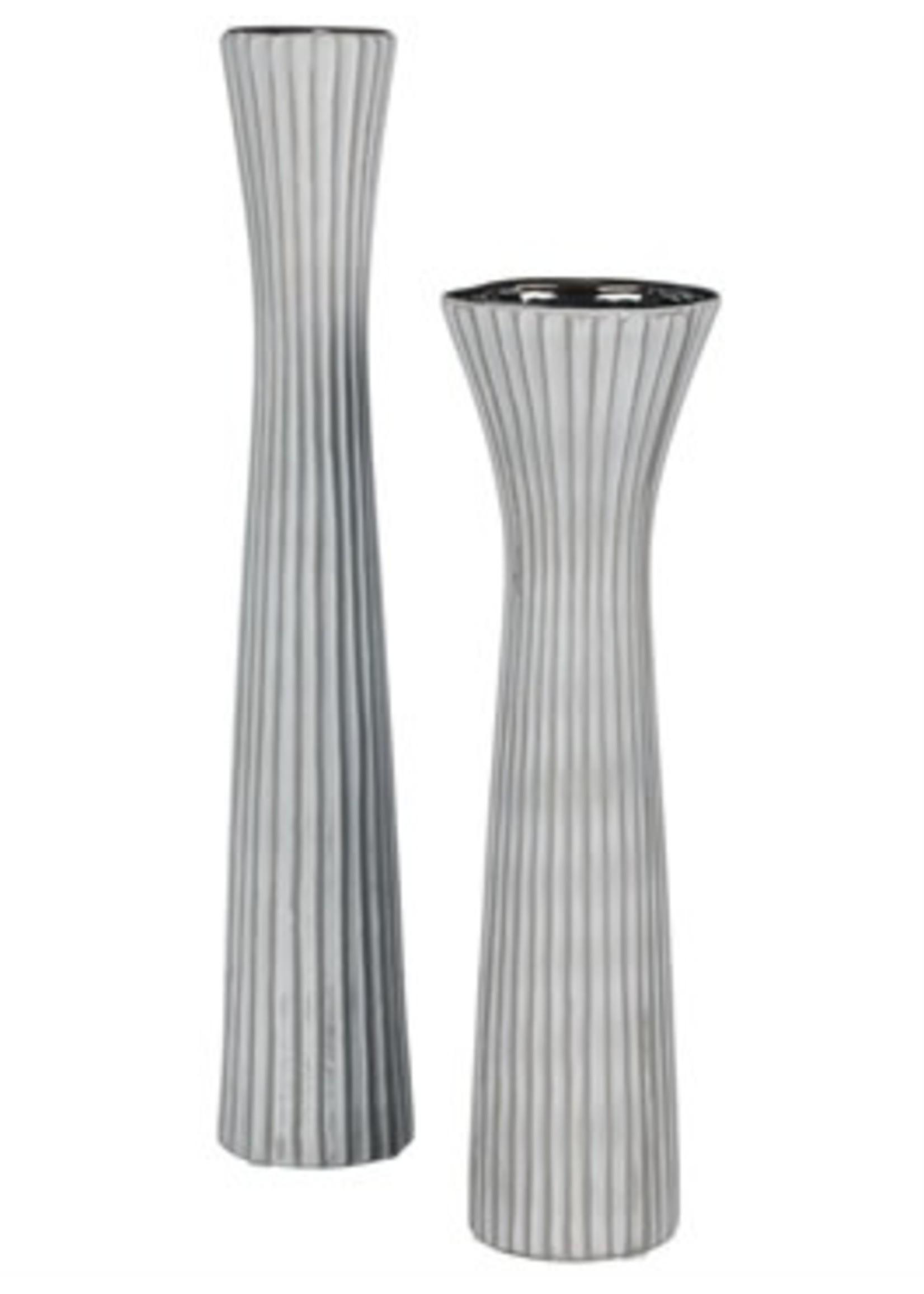 "Sullivans Tall Gray Vase 13"""