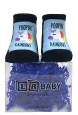 Poopin Rainbows Boxed Socks 0-6 months