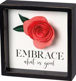 Primitives By Kathy Embrace What is Good Inset Box Sign