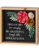 Primitives By Kathy Dream Big Inset Box Sign