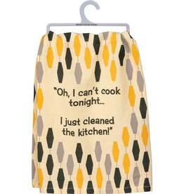 Primitives By Kathy I Can't Cook Tonight Dish Towel