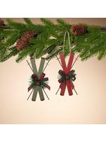 Gerson Companies Metal Holiday Alpine Ski Ornament