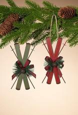 Metal Holiday Alpine Ski Ornament