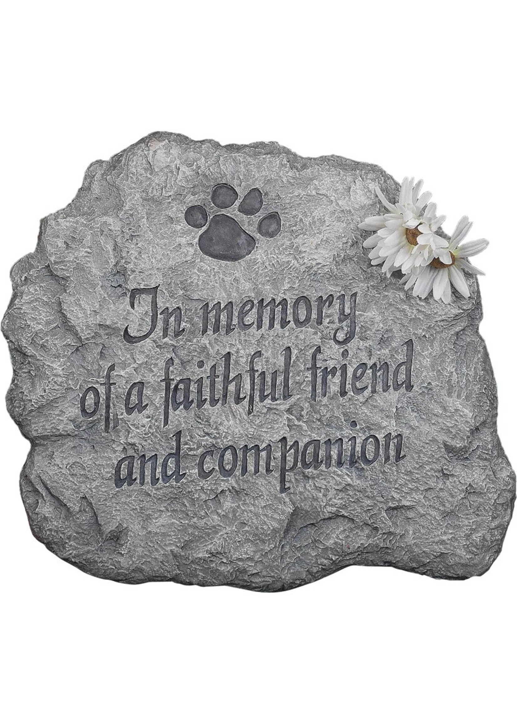 Carson Home Accents Stepping Stone, In Memory of a Faithful Friend & Companion