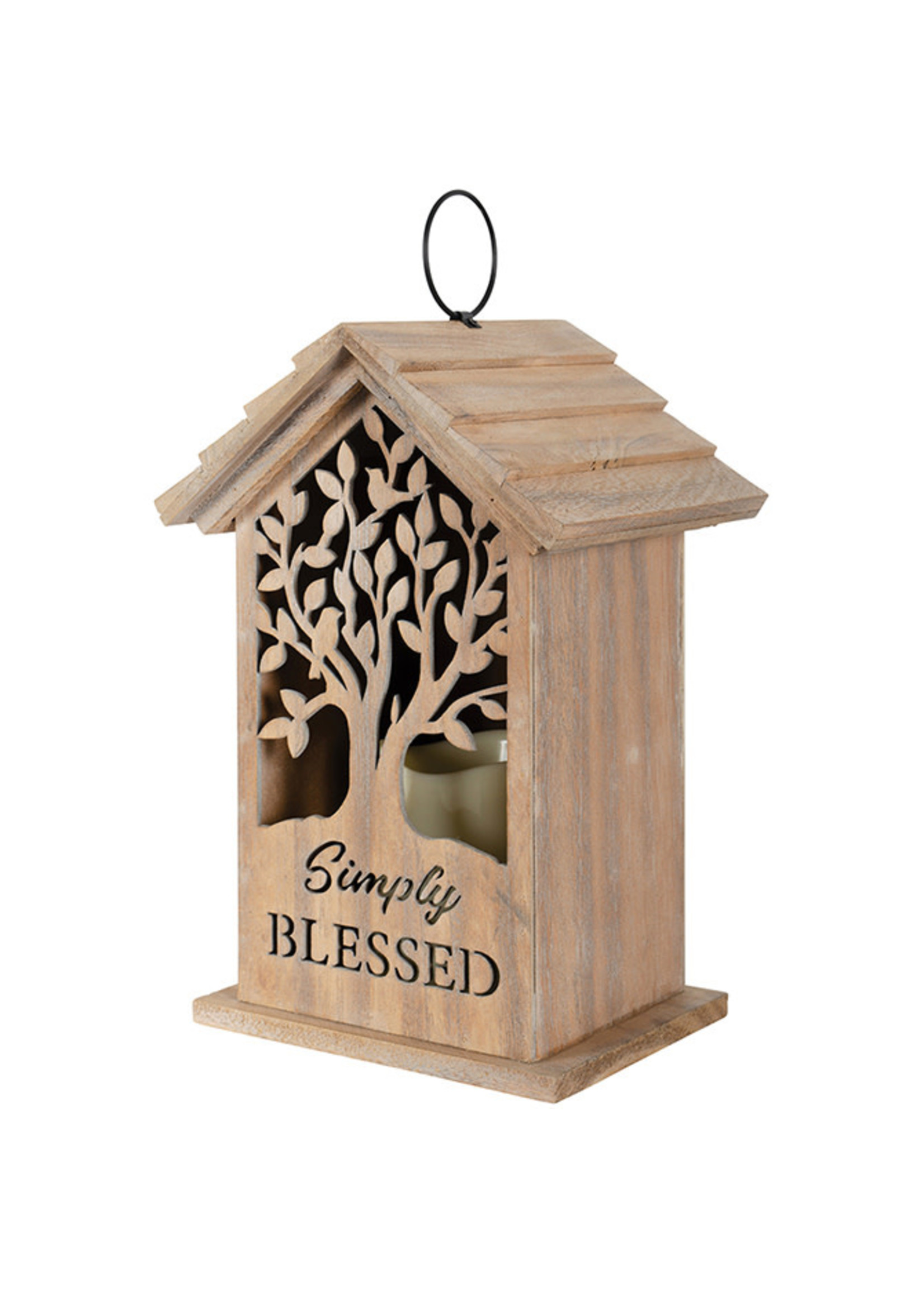 Carson Home Accents Wood House Lantern