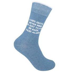 I Hate Guys Socks